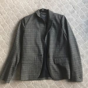 Authentic Abercrombie & Fitch plaid blazer size 4